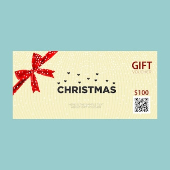 Christmas gift voucher cards