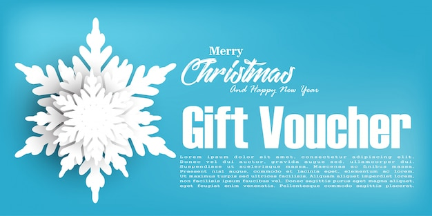Christmas gift voucher coupon discount, christmas background