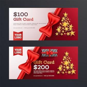Christmas gift vouchers.