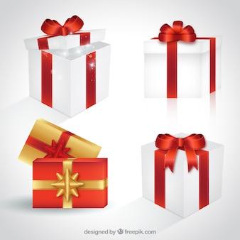 Рождество giftboxes набор