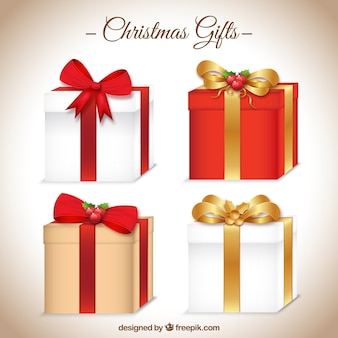Christmas gifts icon collection