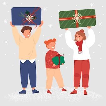 クリスマスプレゼントシーン