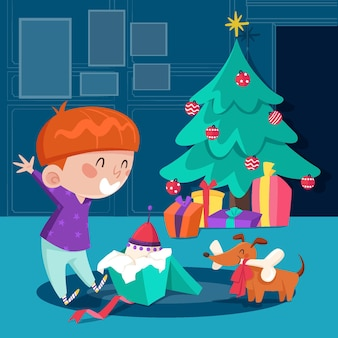 Сцена рождественских подарков