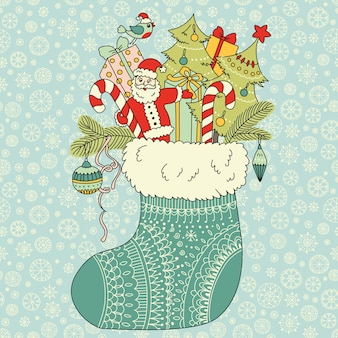 Christmas gifts in sock