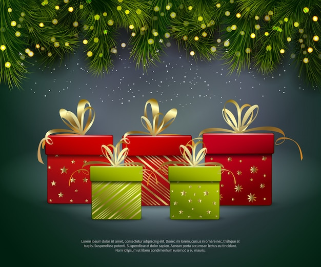 Christmas gifts template