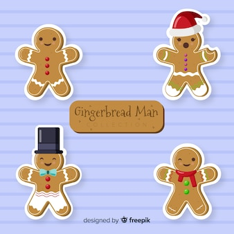 Christmas gingerbread cookie collection