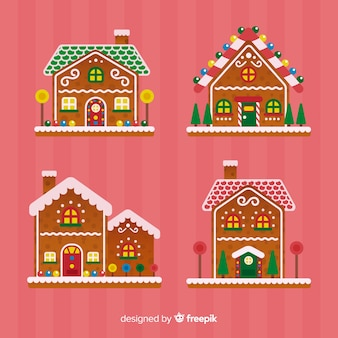 Christmas gingerbread house collection