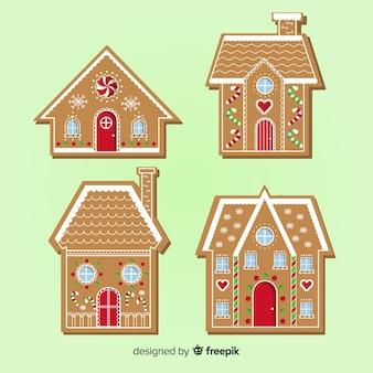 Collezione di case di marzapane di natale