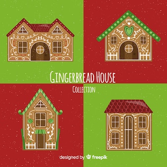 Christmas gingerbread houses collection
