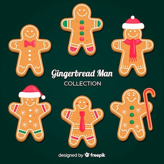 Christmas gingerbread man with accessories collection
