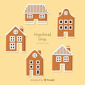 Raccolta di case di natale gingercookie