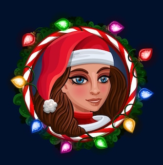 Рождественская девочка в кадре