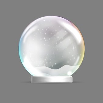 Christmas glass sphere. christmas snow globe.