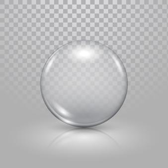 透明な背景にクリスマスガラスのおもちゃのボール。クリスマスのお祭りの装飾オブジェクト。クリスマスは輝きの装飾を分離しました。