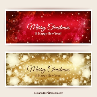 Christmas Glitter Banners Pack