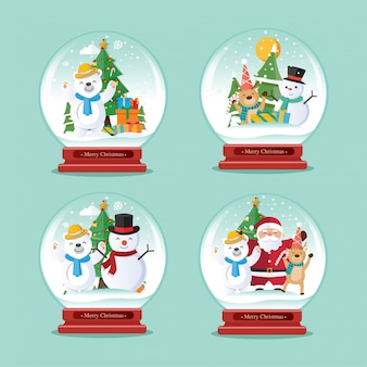 Christmas globe vector, christmas decoration