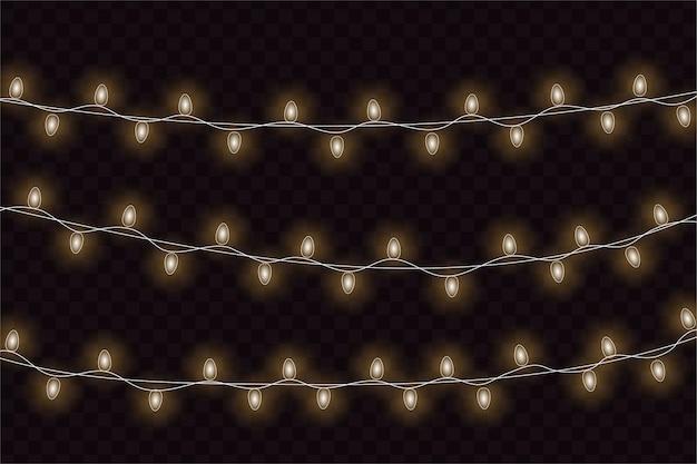 クリスマスの白熱灯。