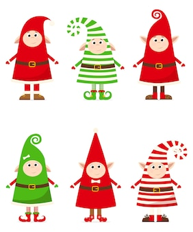 縞模様の衣装のクリスマスノーム