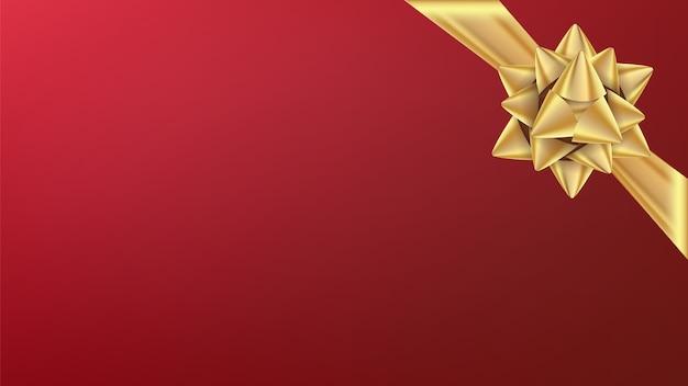 Christmas gold bow