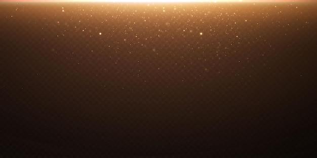 クリスマスの金の紙吹雪の星が落ちています