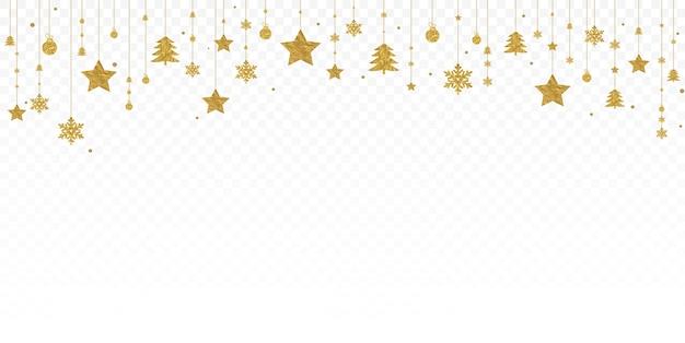 クリスマスゴールドガーランド