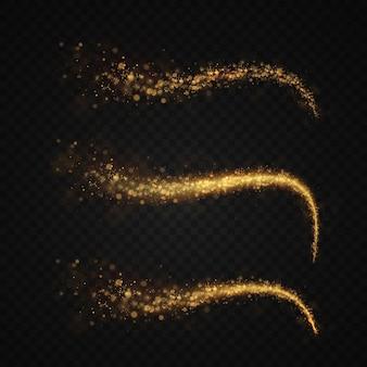 クリスマスゴールドライトホリデー彗星