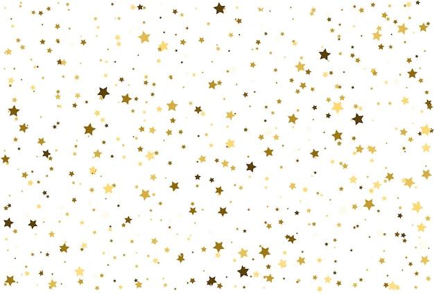 Рождественская золотая звезда векторный фон