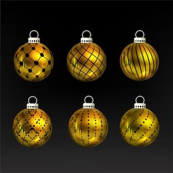 Рождественский золотой набор безделушек