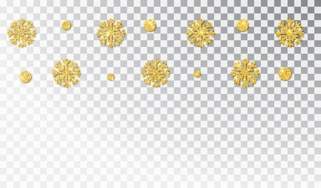 Christmas golden decoration isolated