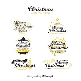 Christmas golden details collection
