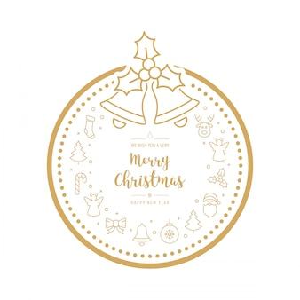 Christmas golden icon