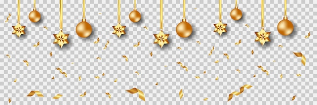 Christmas golden ornaments background vector