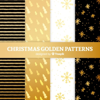 Christmas golden pattern collection