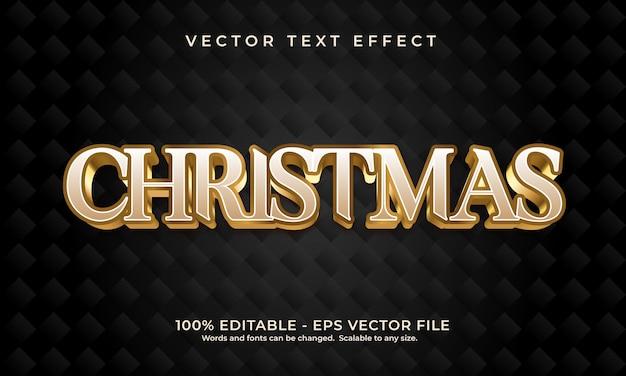 Рождественский золотой текстовый эффект