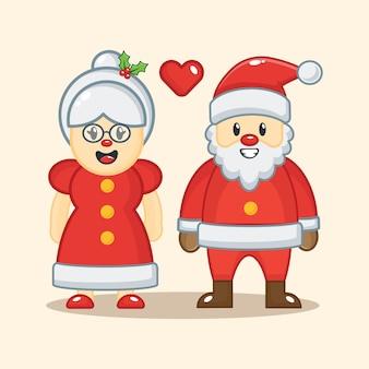 Рождественская бабушка и санта клаус с любовью