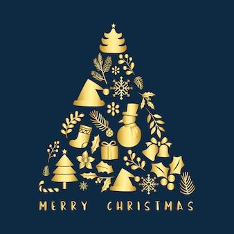 Natale saluto distintivo vettoriale