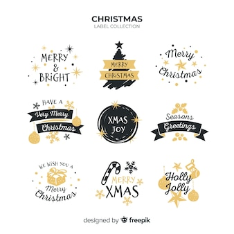Christmas greeting badges collection