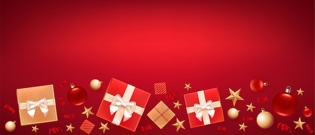 Christmas greeting banner background