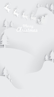 Christmas greeting card background paper art