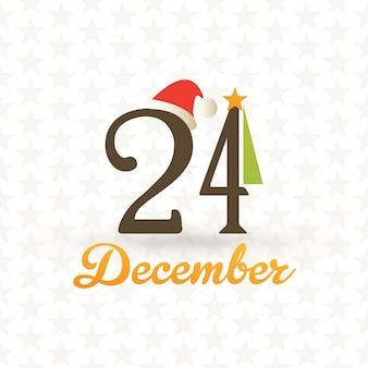 Christmas greeting card december 24