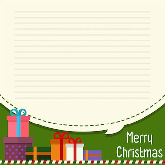 Christmas greeting card and letter paper