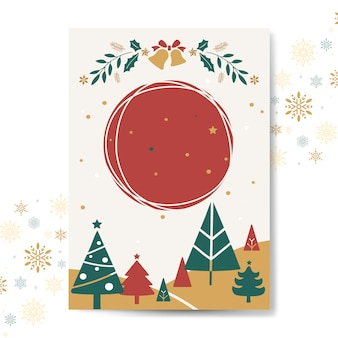 Christmas greeting card mockup vector