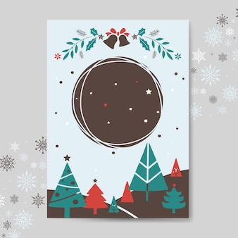 Christmas greeting card mockup vector