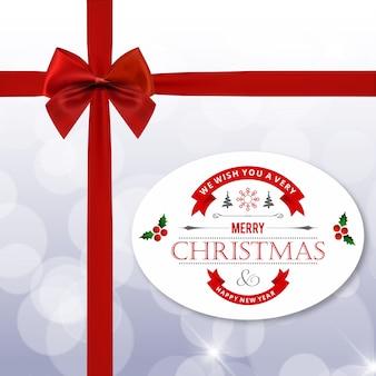 クリスマスグリーティングカードまたはポスターデザイン