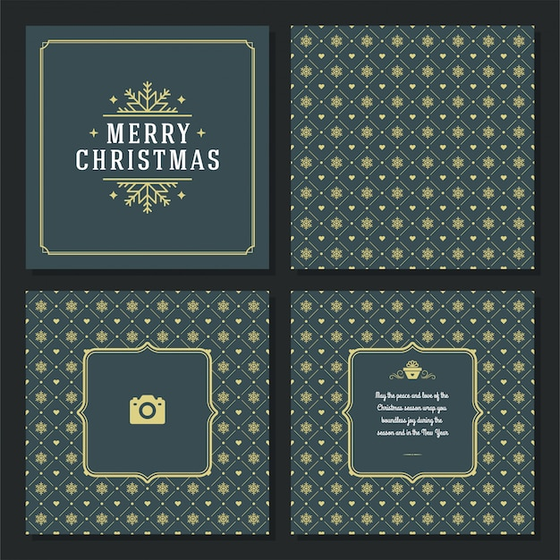 Christmas greeting card and pattern