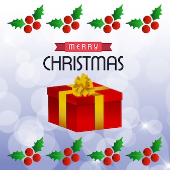 Christmas greeting card or poster design