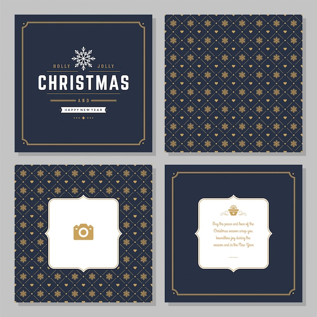 Christmas greeting card vector design and pattern