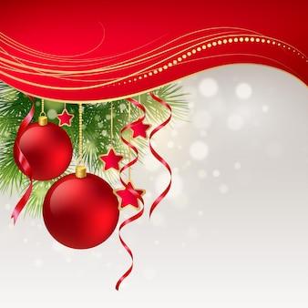 クリスマスのグリーティングカード。ベクターイラストeps10
