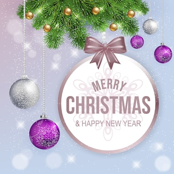 Christmas greeting card on white background