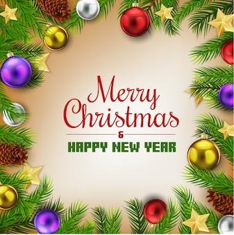 クリスマスの挨拶とクリスマスの飾り